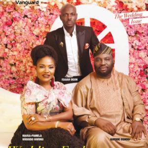 Wedding Enchanters Maria Pamela, Kayode Oshodi, Isaiah Ogun cover Vanguard Allure Magazine's Latest Issue