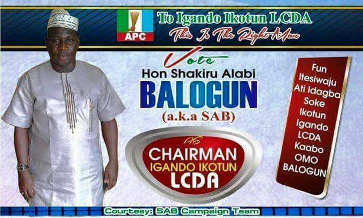 APC Chieftain passes a day to LG Elections