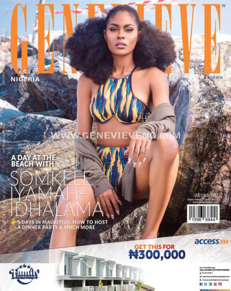 Somekele Idlahama is flawless on cover of July/August issue of Genevieve Magazine - BellaNaija