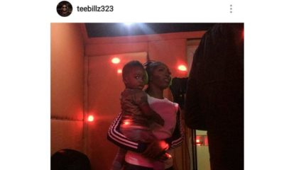 """Mummy! I got the verse"" - Tee Billz shares Photos of Tiwa Savage & Jamil in Studio"