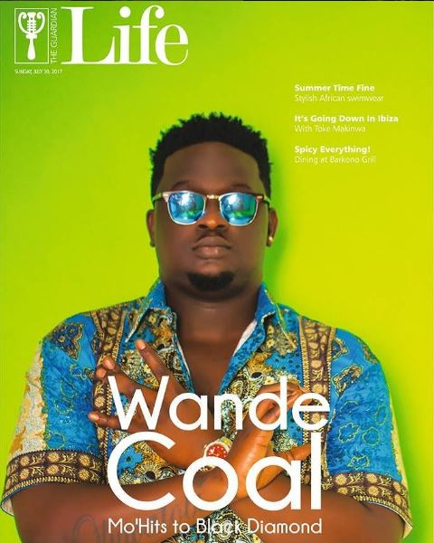 wande Wande Coal is the Cover star for Guardian Life Magazine's latest Issue Celebrities Entertainment