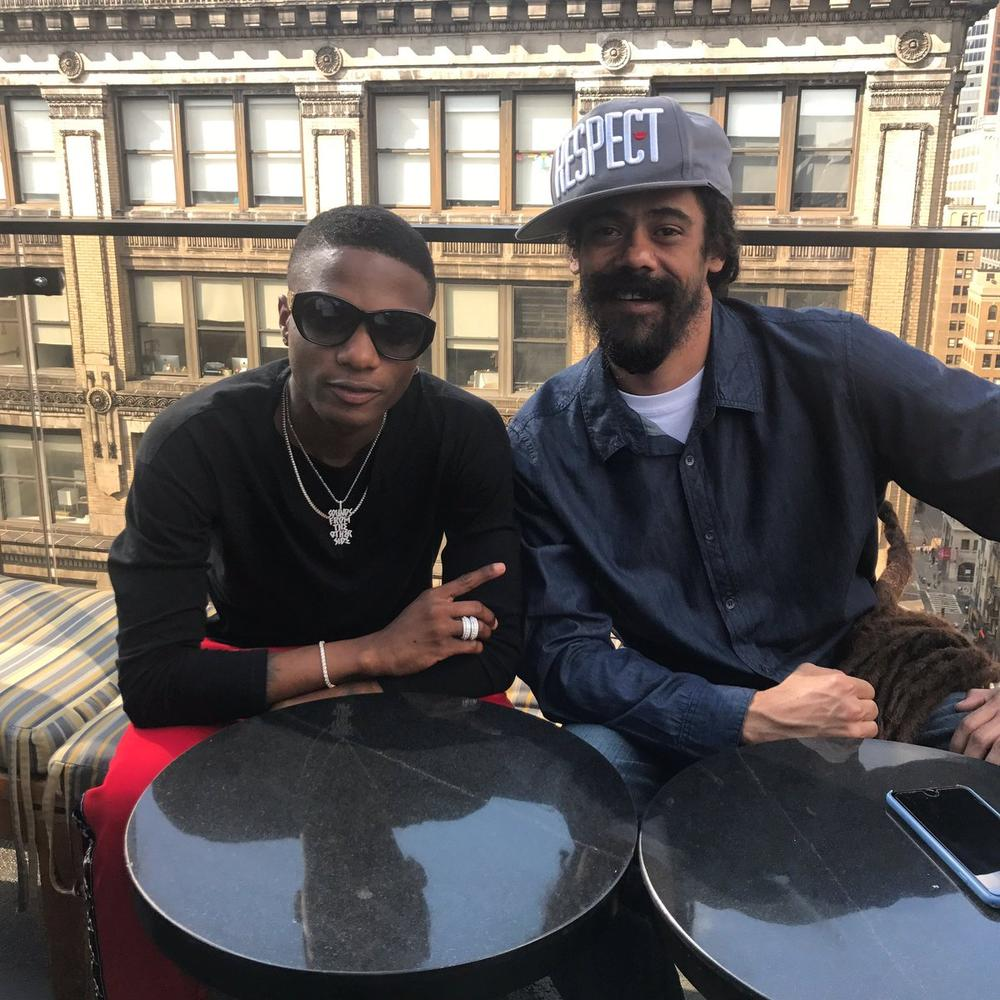 Wizkid working with Bob Marley's son Damian Marley