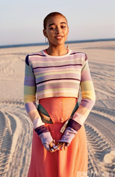 BellaNaija - Black Girl Magic! Hunger Games star Amandla Stenberg covers New Issue of Teen Vogue