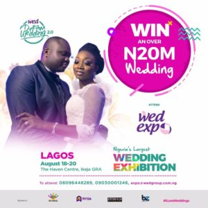 Get into the Wedding Vibe & Stand a Chance to Win a Luxury Wedding for Free! The WED Expo is back with lots of Wedding Goodies | August 18th – 20th