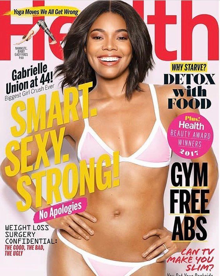 BellaNaija - Gabrielle Union discusses Finding a Balance, Social Media and Workout Regimes on Cover of Health Magazine