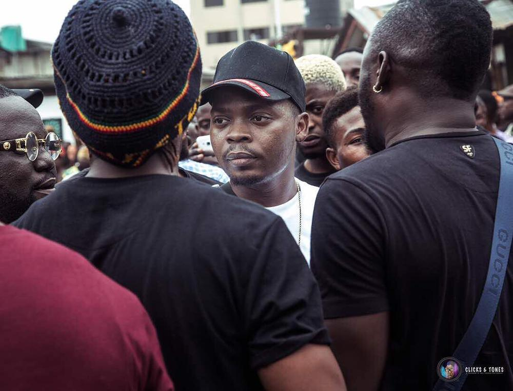 "BellaNaija - One time for the Hood! Olamide shoots Video for New Single ""Wo"" in Bariga 