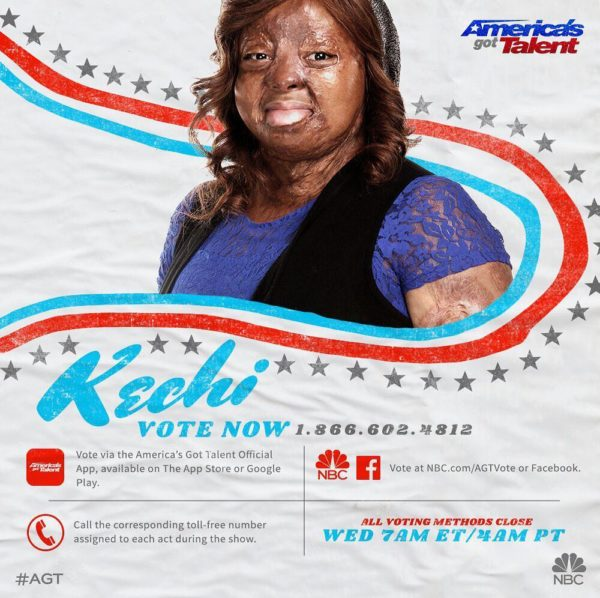 "BellaNaija - #AGT Quarterfinals: Watch Kechi's Inspirational Cover of ""By The Grace Of God"""