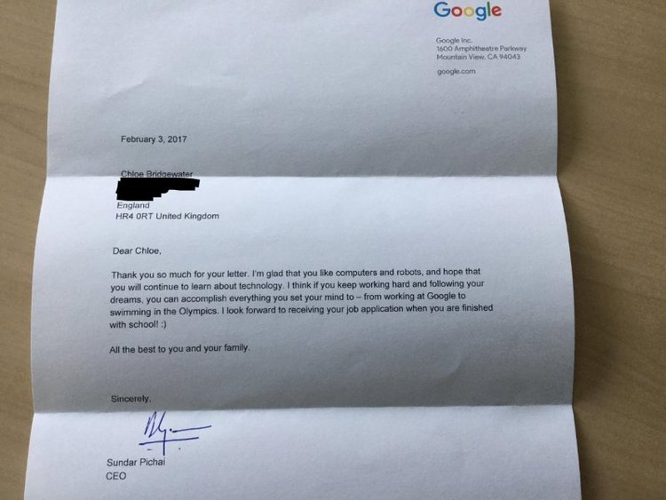 BellaNaija - Google CEO responds to 7-Year Old's Job Application