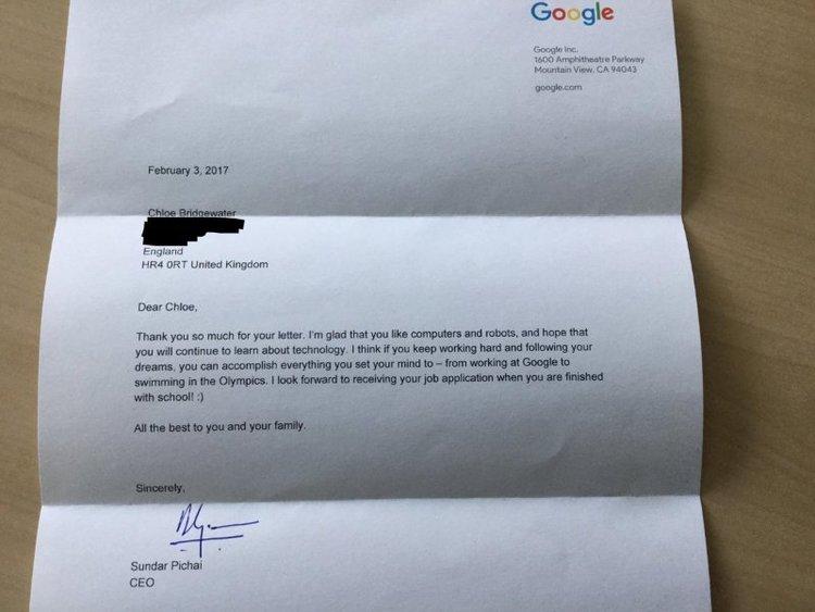 BellaNaija - Google CEO responds to 7-Year Old's Job Application