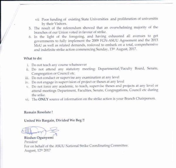 ASUU to begin Indefinite Nationwide Strike - BellaNaija