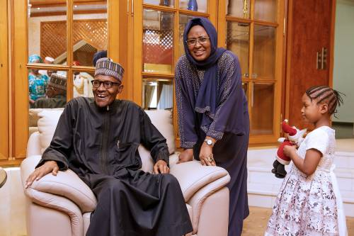 Aisha Buhari Returns To London, Assures Nigerians that the President is in Good Health