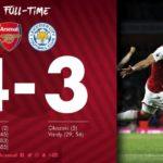 Arsenal defeats Leicester City in an incredible season opener