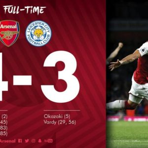 Arsenal defeats Leicester City in an incredible season opener