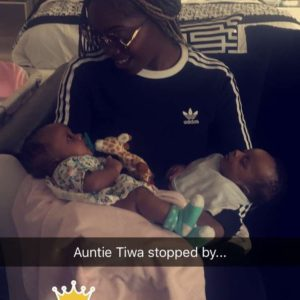 BN Living Sweet Spot: Aww Aunty Tiwa Savage visits Nadia and Nathan ?