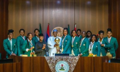 Buhari receives victorious D'Tigress in Abuja, rewards them with N1 million each
