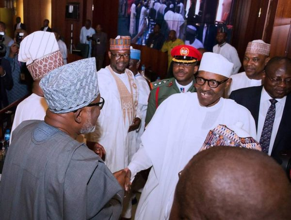 VIDEO: President Buhari meets with all State Governors in Abuja