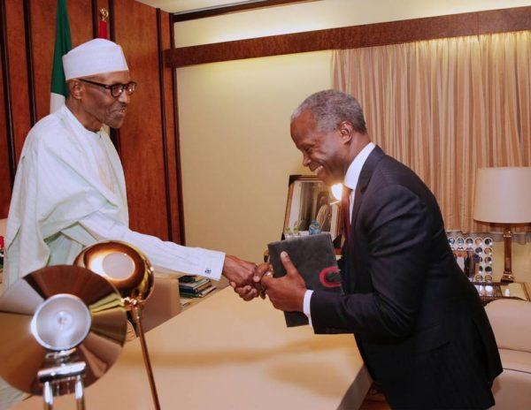 President Buhari meets with Osinbajo, other Officials - BellaNaija