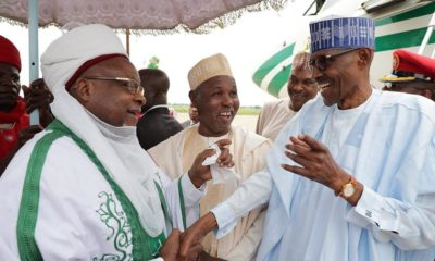 President Buhari arrives Daura for Eid-el-Kabir celebrations