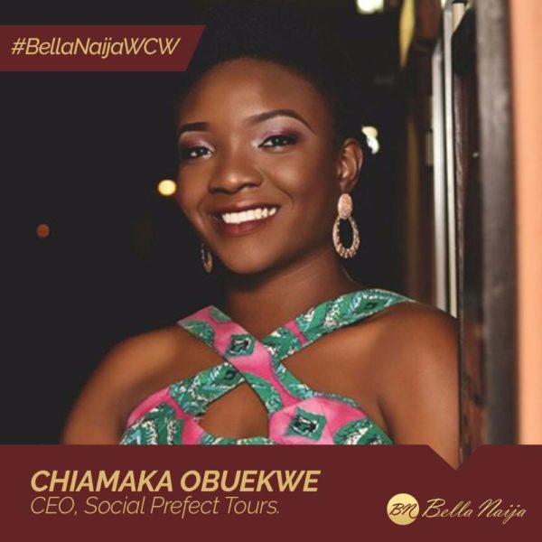 Nigeria's Social Prefect! Chiamaka Obuekwe is our #BellaNaijaWCW this Week