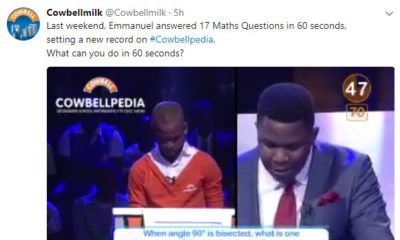 Cowbellpedia: Maths Genius sets new record on live show