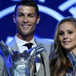 UEFA Player of the Year: Cristiano Ronaldo and Lieke Martens win awards