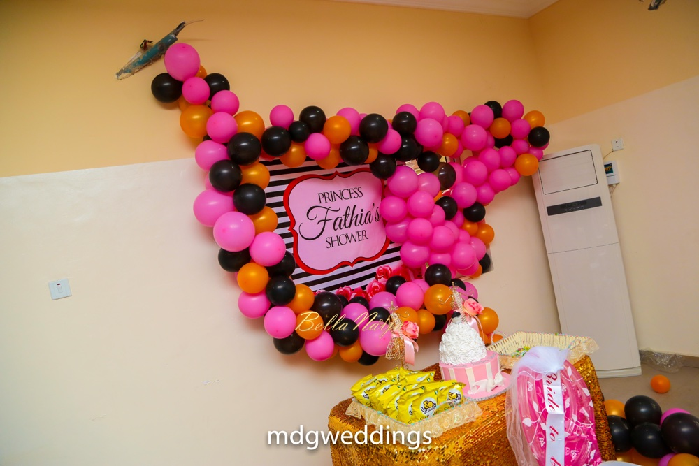 bn bridal shower fathias pink princess themed surprise celebration