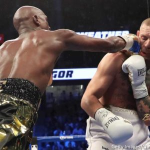 BellaNaija - The Money Win! Floyd Mayweather Jr. defeats Conor McGregor with 10th Round T.K.O