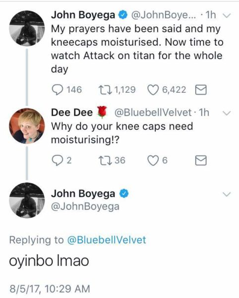 john boyega s oyinbo tweet the rib cracking agba iya response