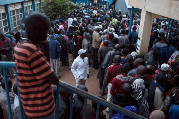 Kenyans troop to Polling Stations to Vote new President - BellaNaija