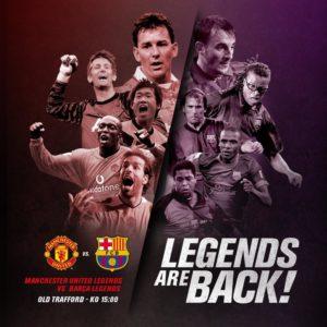#LegendsAreBack: Manchester United & Barcelona Legends to honour victims of terror attacks
