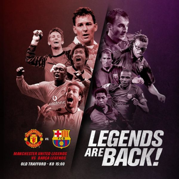 #LegendsAreBack: Man United & Barcelona Legends to honour victims of terror attacks