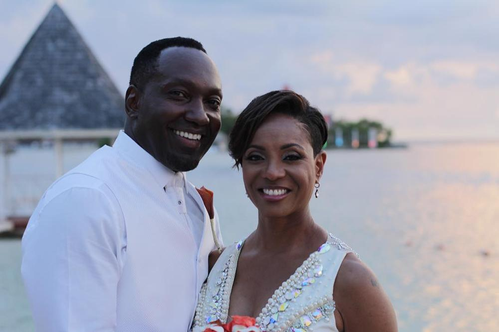 Love is in the Air! MC Lyte gets Married on a Romantic Beach in Montego Bay