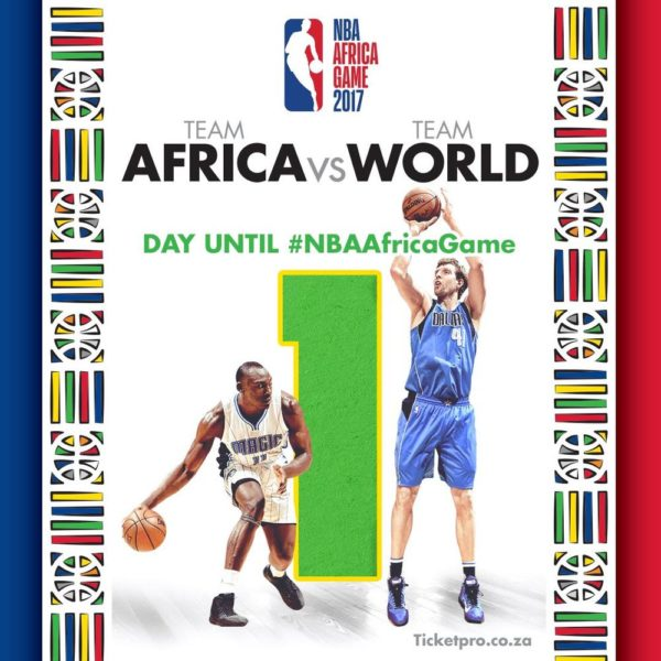 #NBAAfricaGame2017: Team Africa to lock horns with Team World in Johannesburg