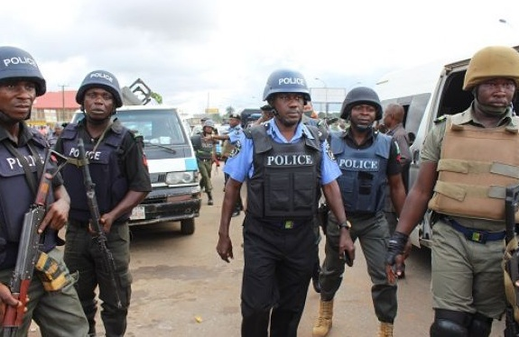 Police Officers shoot in the Air as they Protest Non Payment of Allowances | BellaNaija