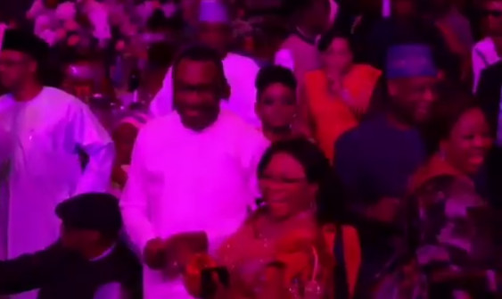 Watch Otedola and Alakija digging it at Daisy Danjuma's 65th Birthday - BellaNaija