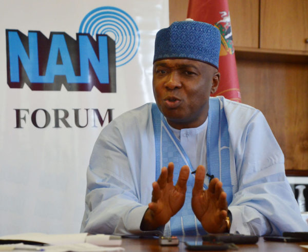 """I have had a personal experience with Magu where he stood up for what is right"" - Saraki"