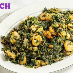 BN Cuisine: Spinach Stew with Chicken and Shrimp by Precious Kitchen