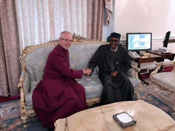 What Archbishop of Canterbury Justin Welby told President Buhari during Friday Visit