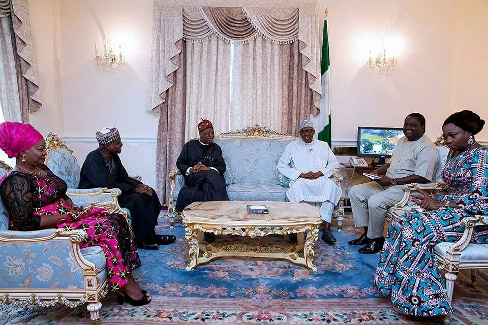 President receives Saraki, Dogara in London