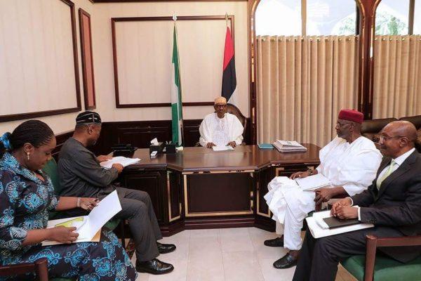 President Muhammadu Buhari meets with Finance Team - BellaNaija