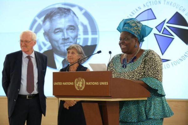 UN awards Nigeria's Rebecca Dali in Geneva for promoting the re-integration of Boko Haram victims