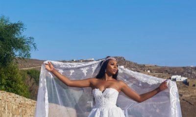Here comes the Bride... First Look at Stephanie Coker Aderinokun's Wedding Dress #SOMykonos17