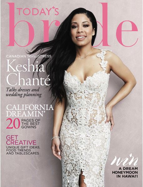 """It's time I live my life for me"" – Read Keisha Chanté's Powerful message as she covers Today's Bride Magazine"