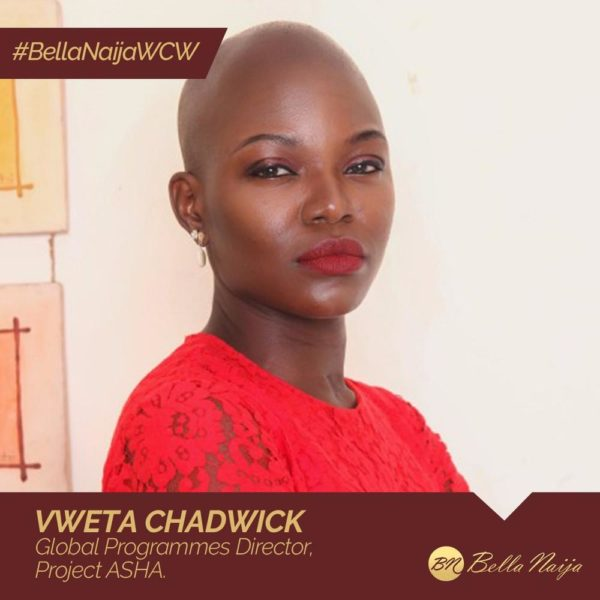 Social Work Champion Vweta Chadwick of Project ASHA is our #BellaNaijaWCW this Week