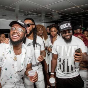 BellaNaija - Chief Obi, Masterkraft, Swanky Jerry... Photos from Flavour's All-White Cruise/Album Listening Party