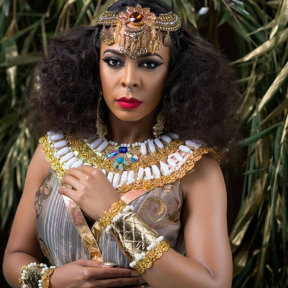 BellaNaija - Queen Cleopatra! TBoss unveils Alter Ego in New Photos