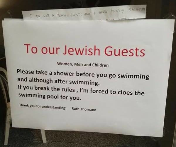 Shower before you Swim - Swiss Hotel accused of Anti-Semitism - BellaNaija