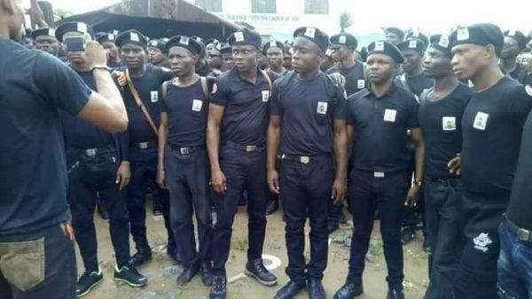 Watch as Nnamdi Kanu inaugurates Biafra Secret Service - BellaNaija