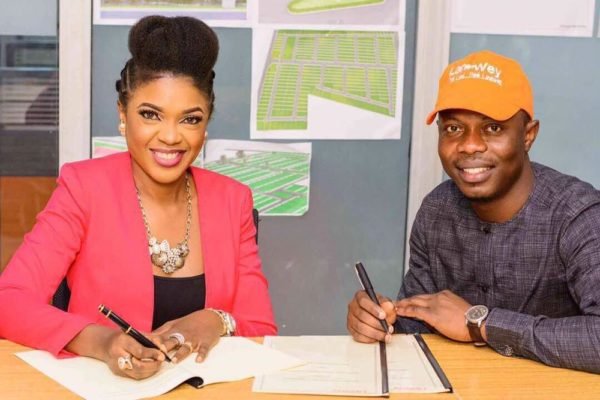 Omoni Oboli becomes Landwey Investment Brand Ambassador - BellaNaija