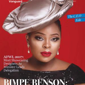 Bimpe Benson covers Vanguard Allure Magazine's CEO Issue